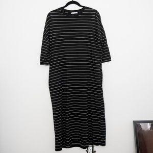 Zara Black Striped Maxi Dress S